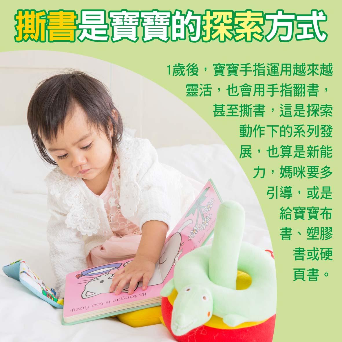 寶寶篇1歲第15~16週-撕書是寶寶的探索方式