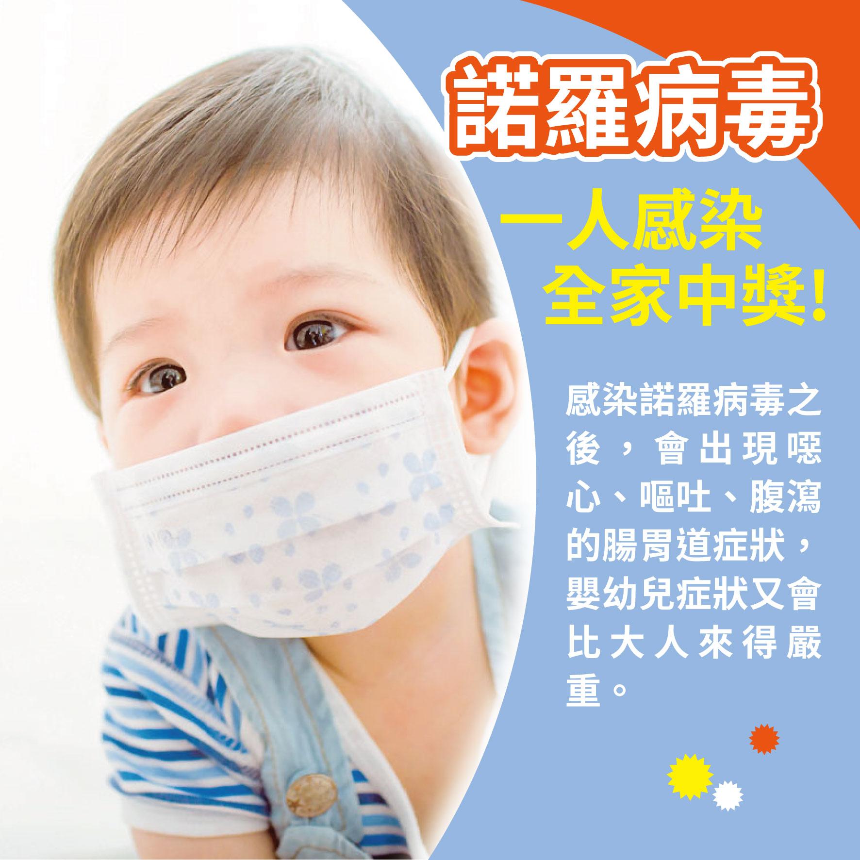 幼兒2歲(第24週)諾羅病毒 一人感染 全家中獎!