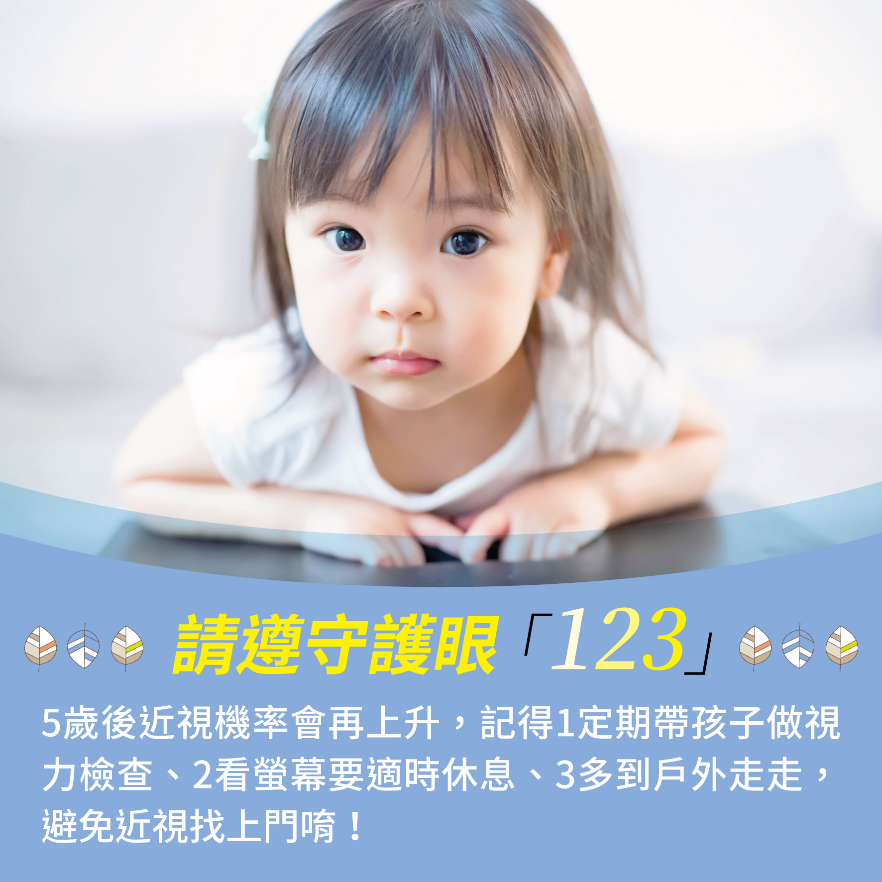 幼兒5歲(第2週)請遵守護眼「123」