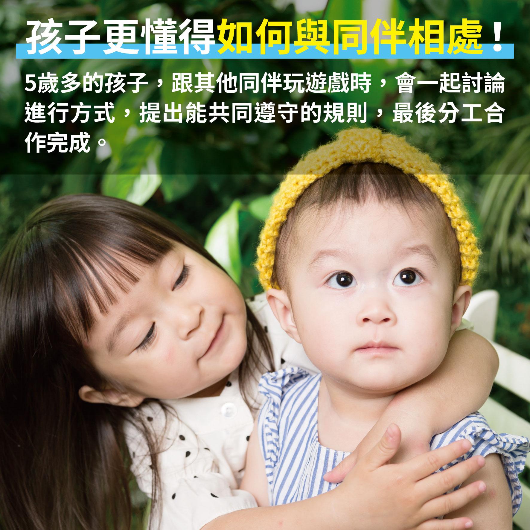 幼兒5歲(第4週)孩子更懂得如何與同伴相處