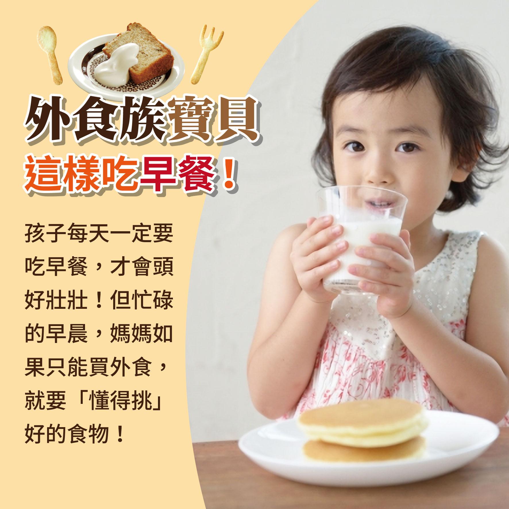 幼兒5歲(第22週)外食族寶貝 這樣吃早餐!