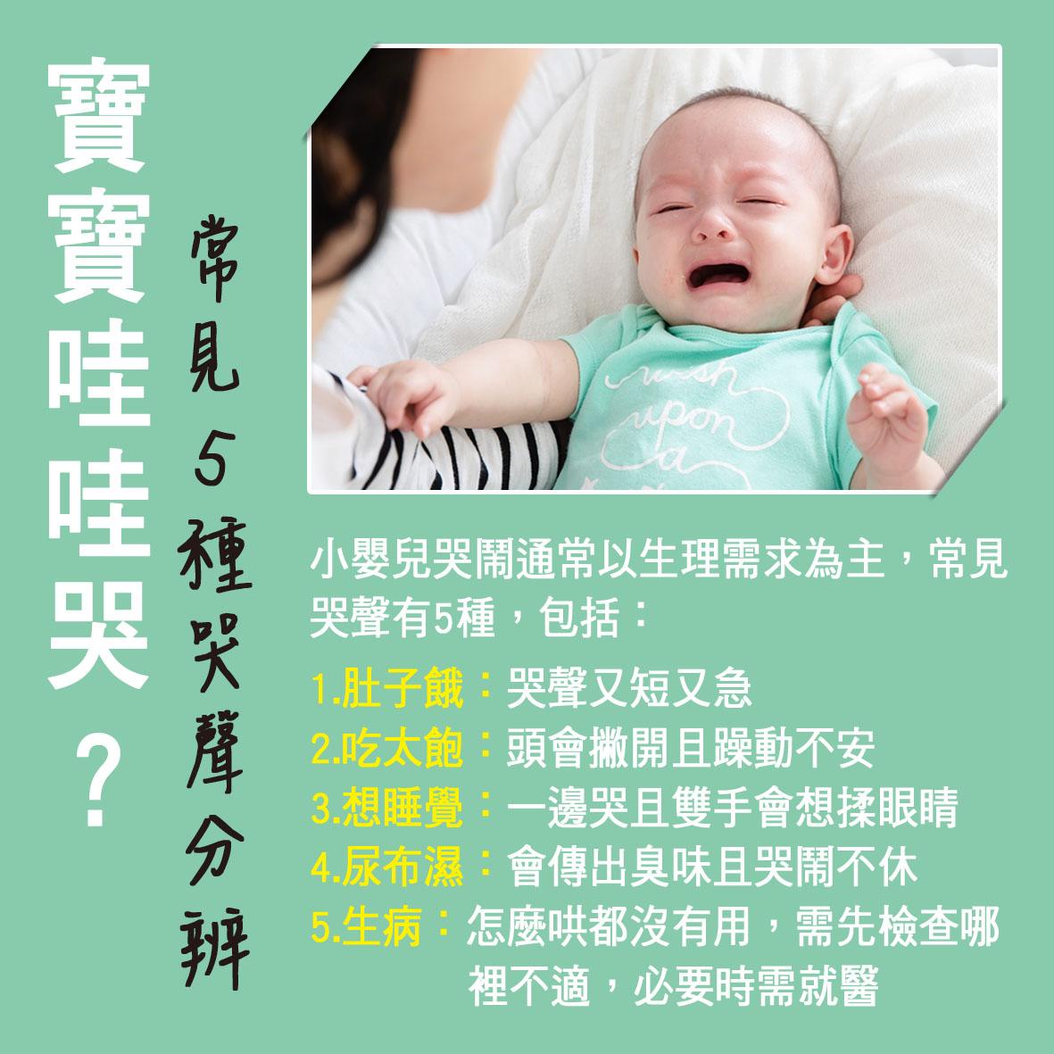 寶寶篇第15週--寶寶哇哇哭?常見5種哭聲分辨