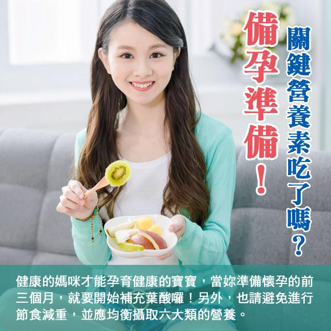 懷孕第1週(尚未懷孕)-備孕準備!關鍵營養素吃了嗎?