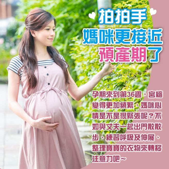 懷孕第36週-拍拍手 媽咪更接近預產期了