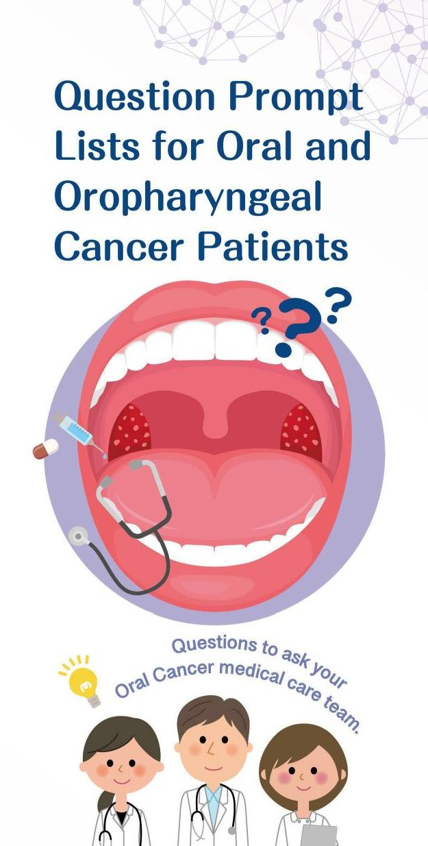 Question Prompt Lists for Oral and Oropharyngeal Cancer Patients口腔癌就醫提問單