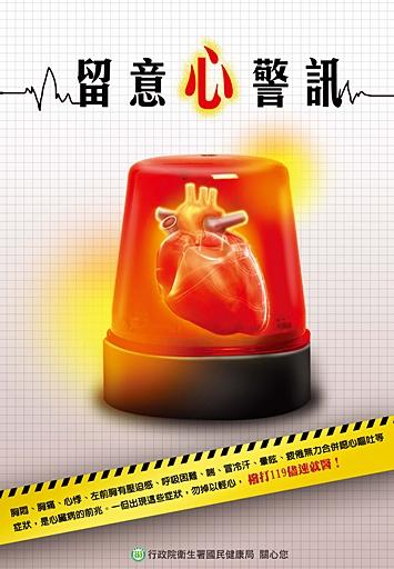 心臟病徵兆海報-警笛篇-留意心警訊