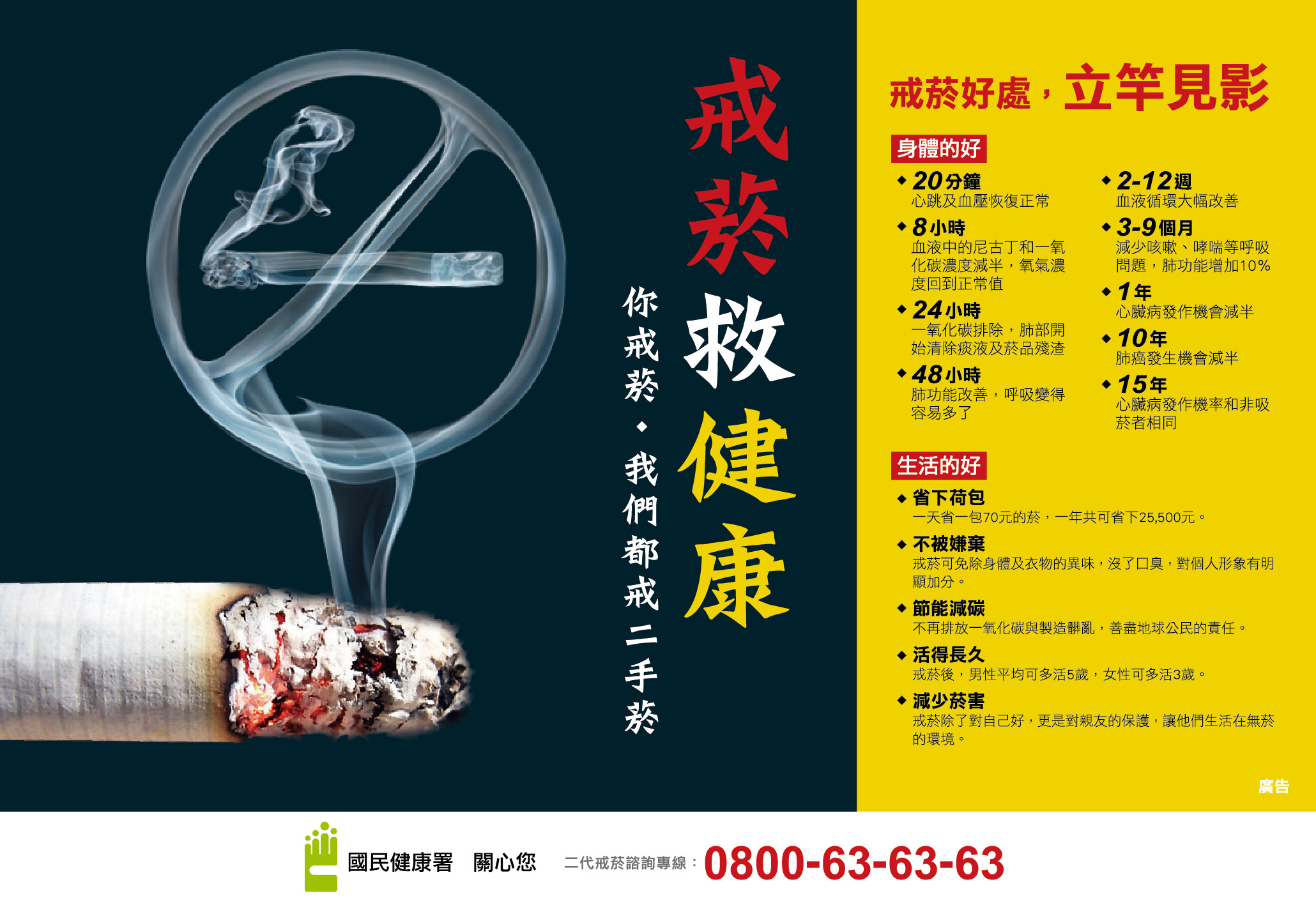 戒菸救健康 你戒菸‧我們都戒二手菸 (橫向)