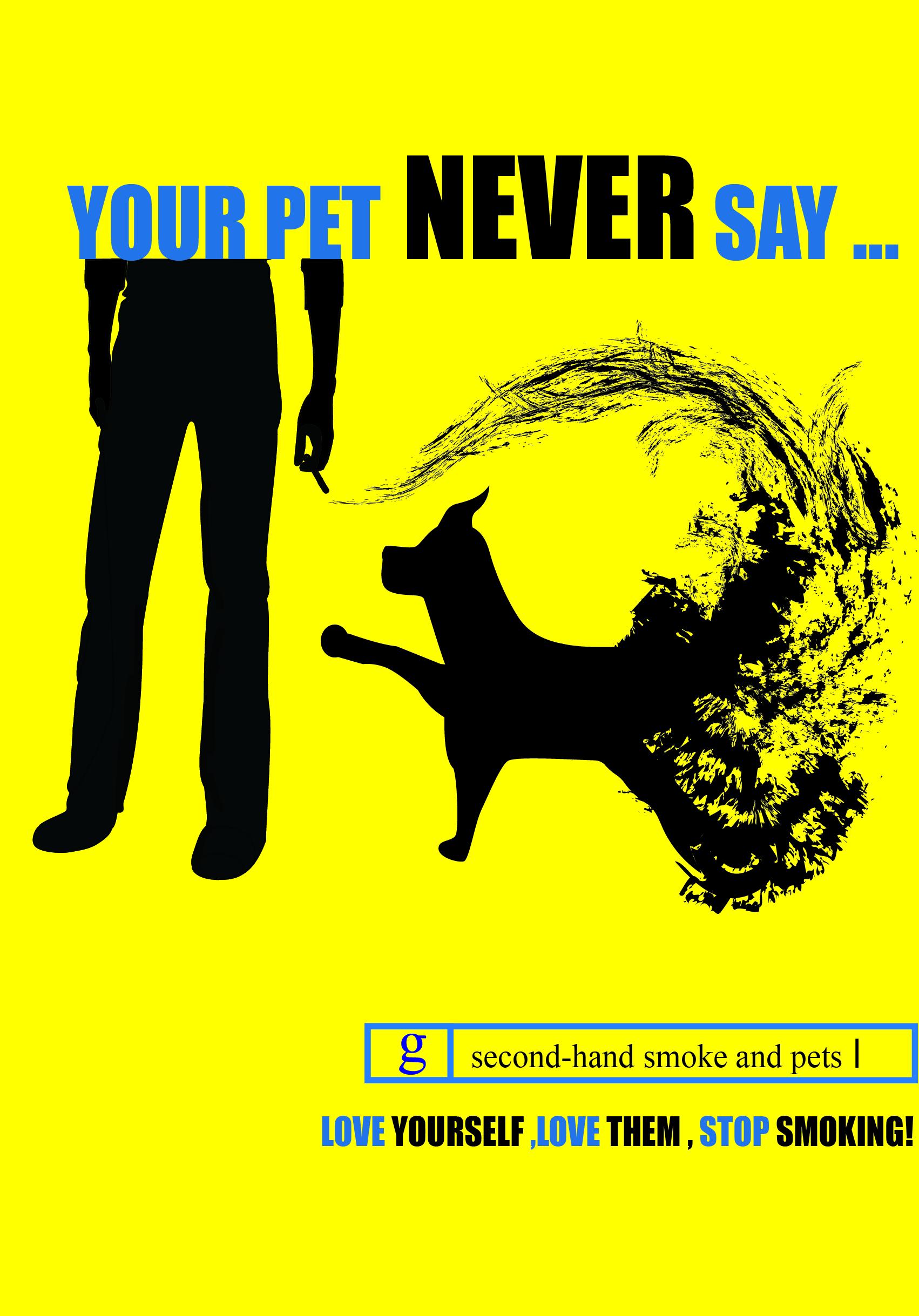 Your pet never say....(2014無菸設計大賞平面組-佳作)