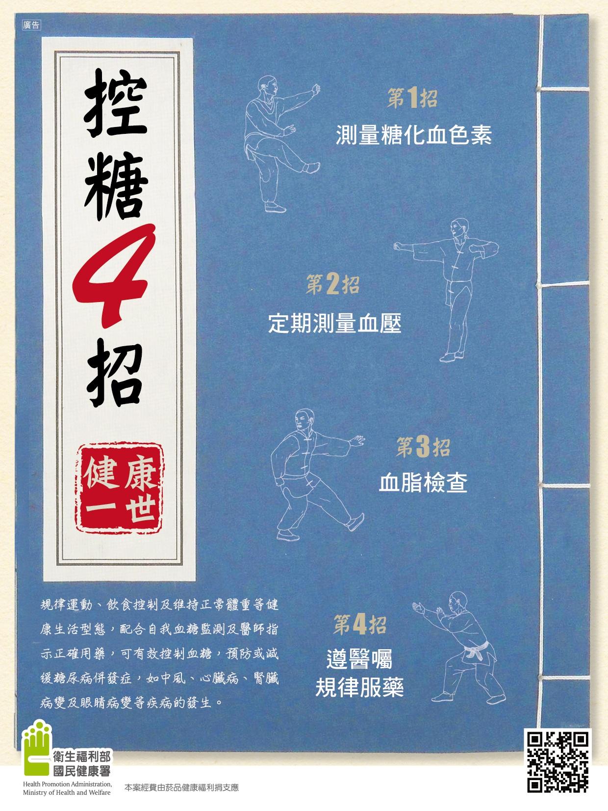 糖尿病防治-控糖4招