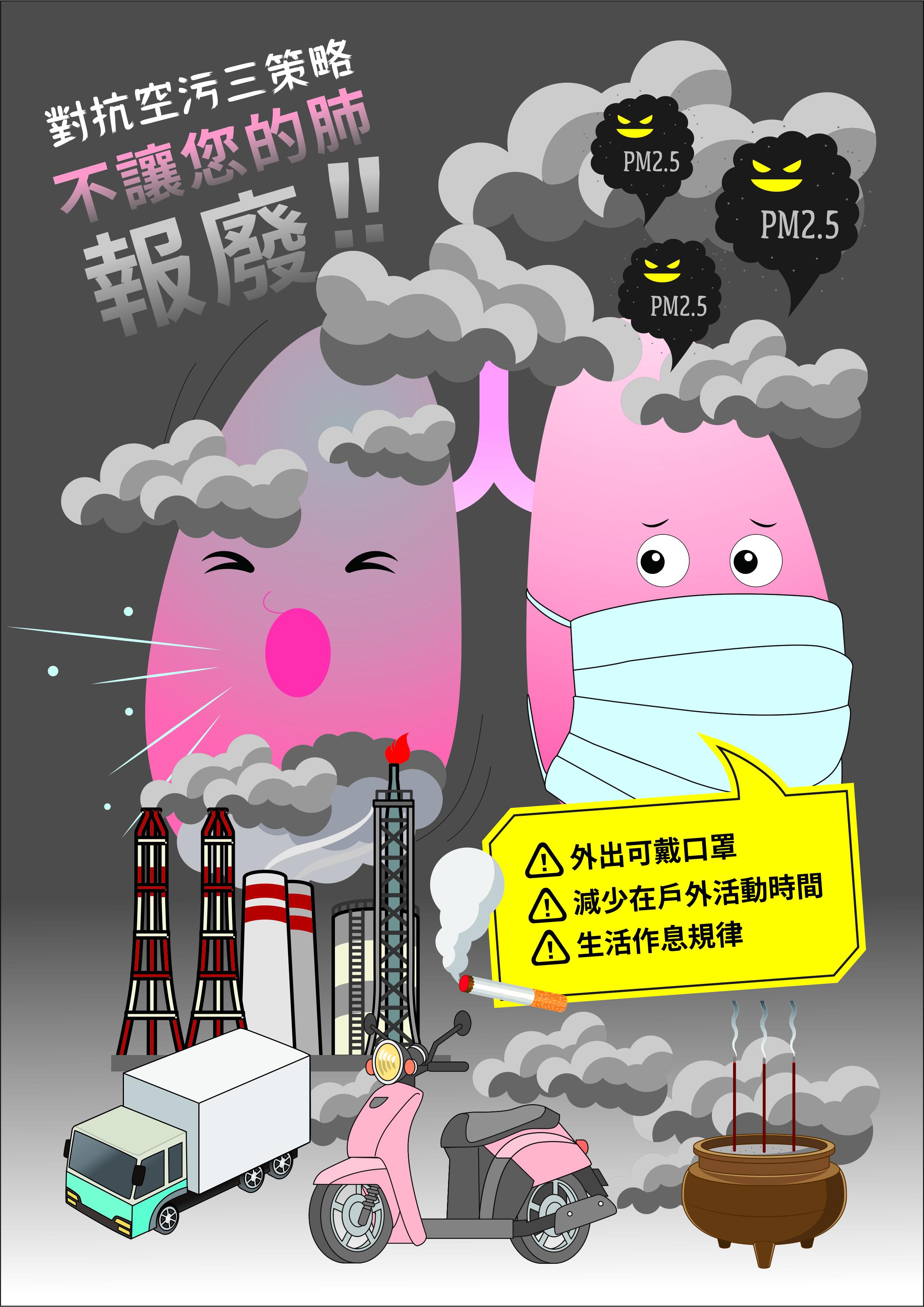 對抗空污三策略-不讓您的肺報廢